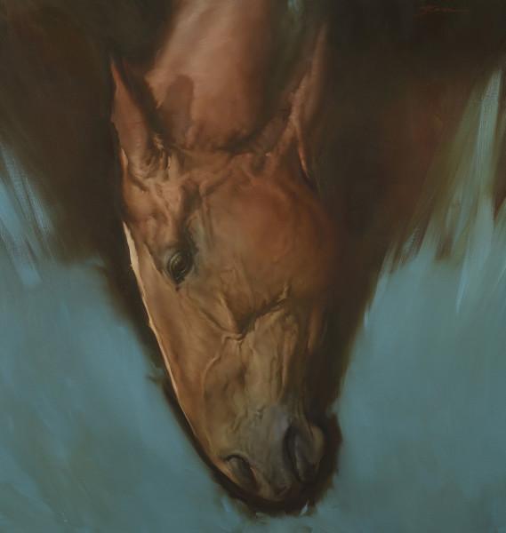 Michael J Austin  Headway I  Oil on canvas  39.4 x 37.75ins (100 x 96cm)