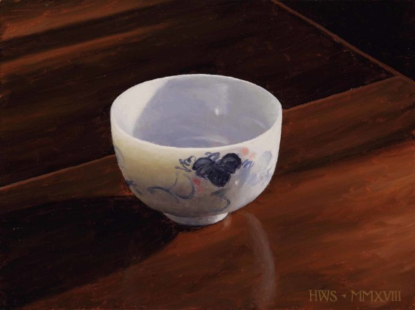 Harry Steen  Little Chinese Bowl  Oil on board  8 x 10.5ins (20.3 x 26.7cm)