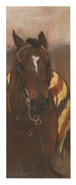 Jay Kirkman Leading In Pastel and Conté 26.38 x 9.84ins (67 x 25cm)