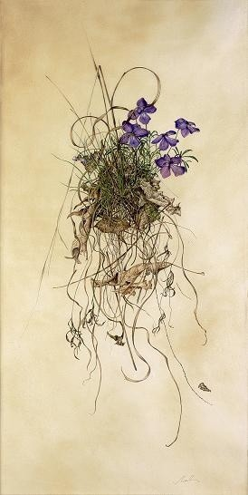 Kate Nessler, Violets on the Bank
