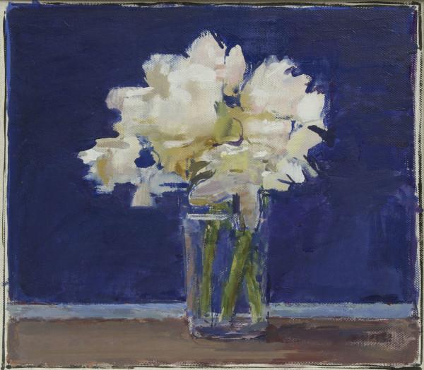 Ben Henriques Rhode Oil on canvas 11.02 x 12.6ins (28 x 32cm)