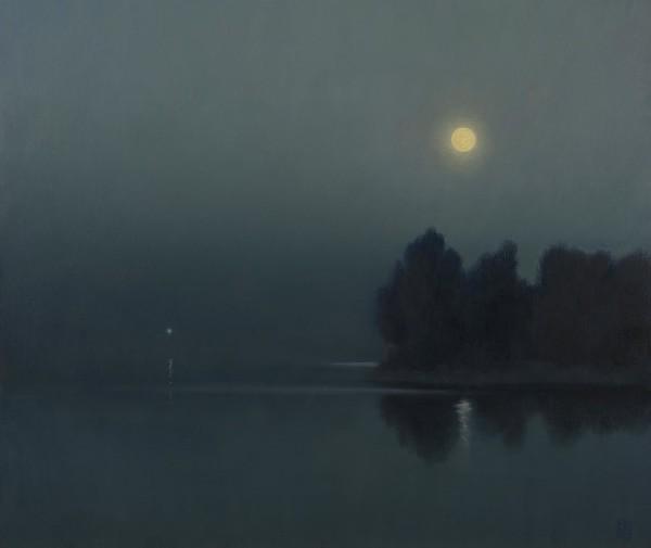 Michael Bennallack Hart Daisy's Dock Oil on canvas 20 x 24ins (50.8 x 61cm) (artwork size) 21.65 x 25.71ins (55 x 65.3cm) (framed size)