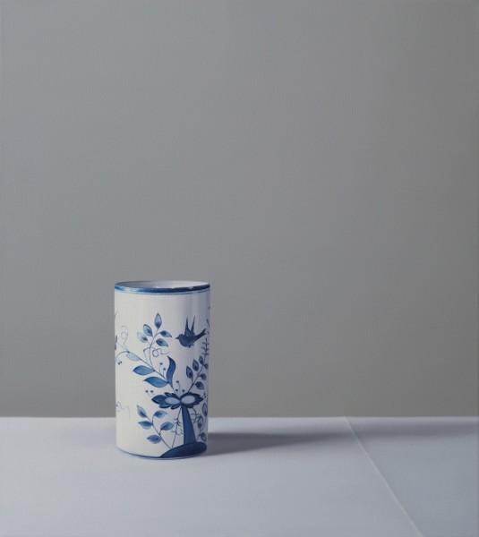 Jo Barrett Still Life with Chinese Pot Oil on canvas 23.62 x 21.26ins (60 x 54cm)