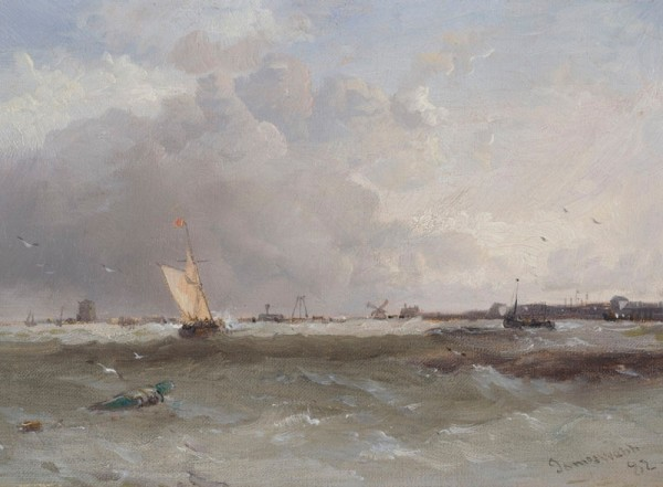James Webb Brill, Holland, 1882 Signed and dated, bottom right Oil on canvas 7 x 10ins (18 x 25.4cm)