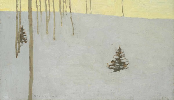 David Grossmann, Trees and Fading Winter Day