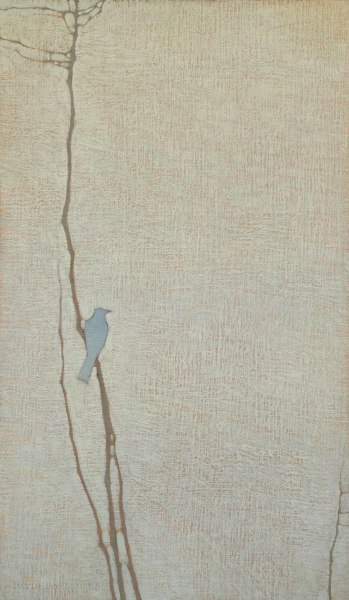 David Grossmann  Blue Bird II  Oil on linen over panel  24 x 14ins (61 x 35.6cm)