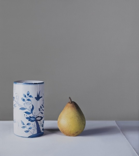 Joanna Barrett Still Life with Pear Oil on canvas 23.6 x 20.9ins (60 x 53cm)