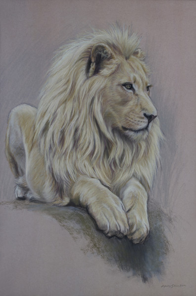 Gary Stinton, Study of Recumbent White Lion