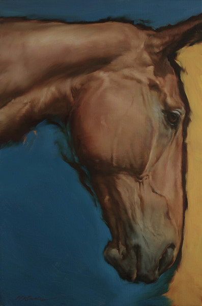 Michael J Austin Equus III Oil on canvas 35.4 x 23.6ins (90 x 60cm)