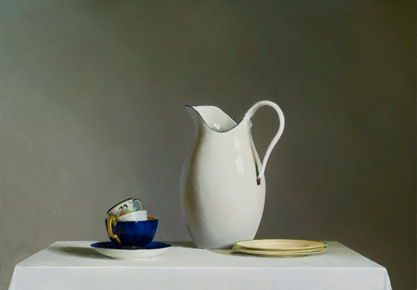 Helen Simmonds, White Jug with Three Cups