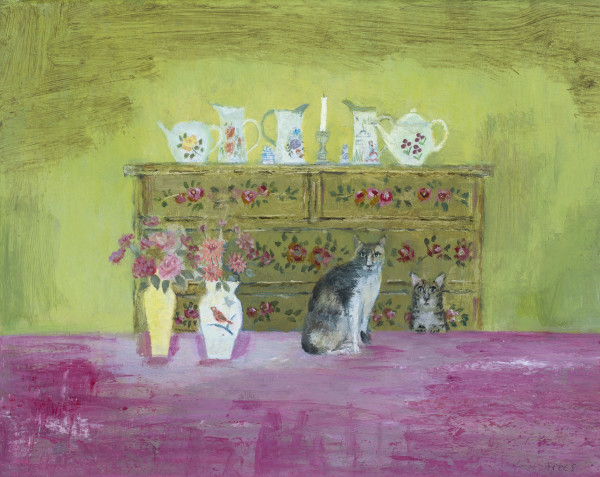 Tracy Rees Old China Acrylic on board 7.75 x 9.75ins (20 x 25cm)