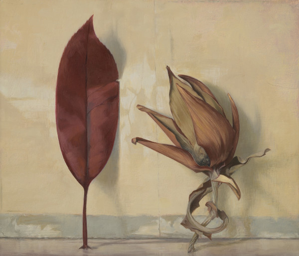 Susan Angharad Williams, Red Leaf with Artichoke Fragment