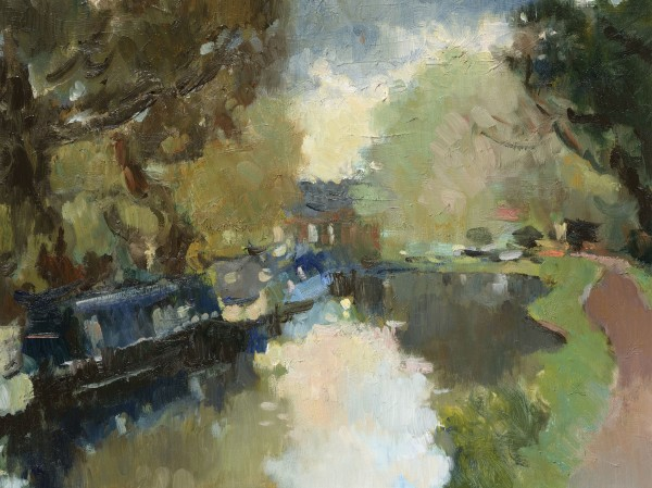 Julia Hawkins, Quiet Evening at Pyrford Lock