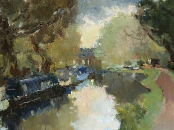 Julia Hawkins, Quiet Evening at Pyrford Lock