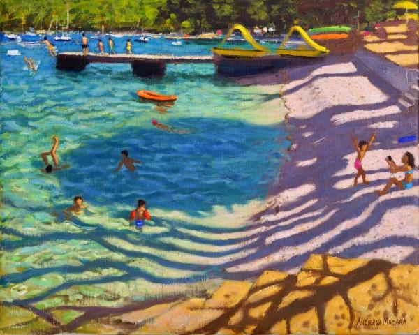Andrew Macara Tree Shadows, Vrsar, Croatia Oil on linen 16 x 20ins (40.6 x 50.8cm) (artwork size) 17.8 x 21.65ins (45.2 x 55cm) (framed size)