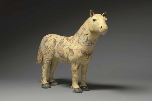 Georgina Warne Rock Horse High fired earthenware 15.35 x 21.6 x 5ins (39 x 55 x 13cm)
