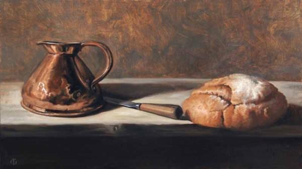 James Gillick, Bread, Knife and Copper Jug