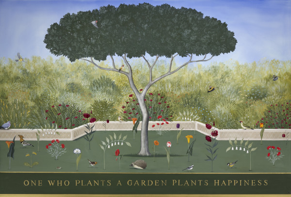 Rebecca Campbell One Who Plants a Garden Plants Happiness Oil on linen 48 x 70.87ins (122 x 180cm)