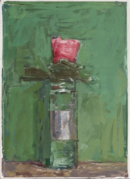 Ben Henriques, Pink Flower on Green