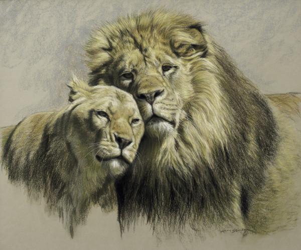 Gary Stinton, Study of Pair of African Lions