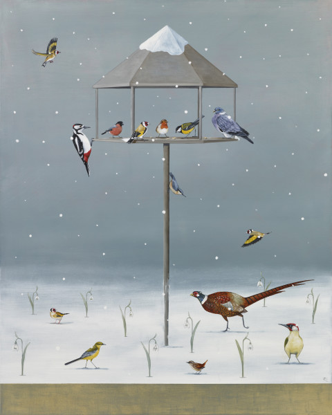 Rebecca Campbell Winter Jewels Oil on linen 30.25 x 24ins (77 x 61cm)