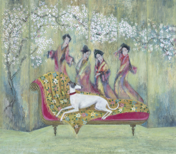 Tracy Rees Geisha Acrylic on board 13 x 15ins (33 x 38cm)