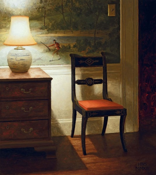 Harry Steen, Chair with Wallpaper