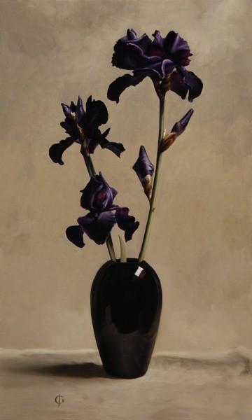 James Gillick, Iris in a black vase