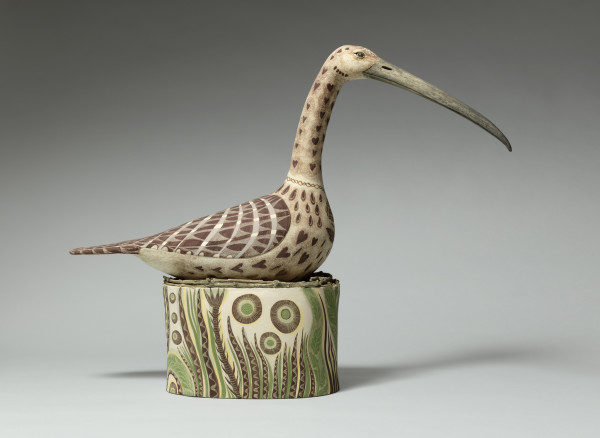 Georgina Warne Nesting Wader I High fired earthenware 18.9 x 24.8 x 5.9ins (48 x 63 x 15cm)