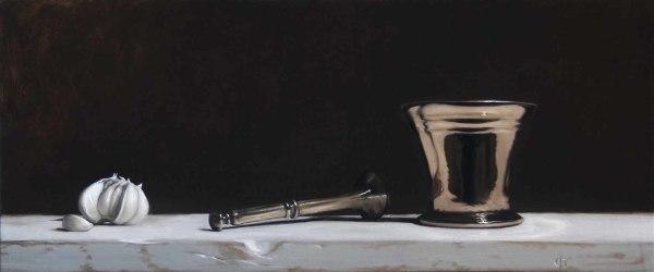 James Gillick, Garlic & Bronze Pestle & Mortar