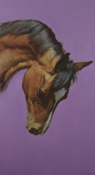 Austin, J, Michael Equus VI Oil on canvas 48.03 x 26.18ins (122 x 66.5cm)