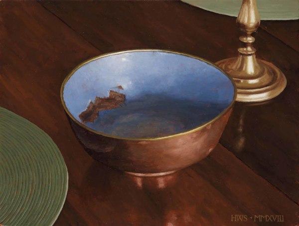 Harry Steen  Copper Bowl  Oil on board  9 x 12ins (22.9 x 30.5cm)