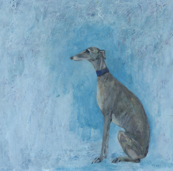Tracy Rees Profile of a Hound Acrylic on paper 7 x 7ins (18 x 18cm)