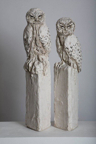 Tanya Brett, Owl I (left) Owl II (right)