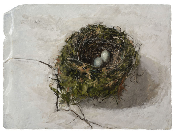 Ben Henriques  Nest  May 2016  Oil on slate  15 x 20ins (38 x 51cm)