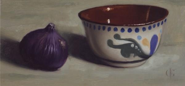 James Gillick, Cornishware Bowl & Single Fig, 2012