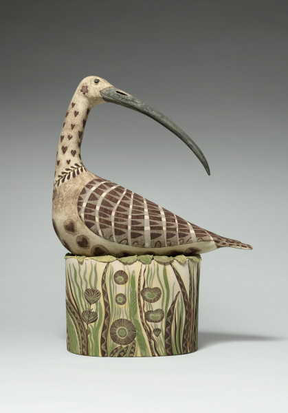 Georgina Warne Nesting Wader II High fired earthenware 18 x 13.4 x 5.9ins (46 x 34 x 15cm)