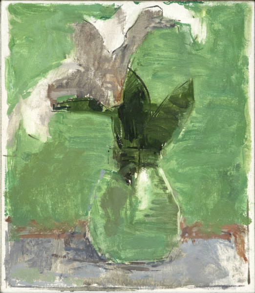 Ben Henriques White Lily Oil on canvas panel 12.6 x 11ins (32 x 28cm) (artwork size) 16.25 x 14.5ins (41.3 x 36.8cm) (framed size)