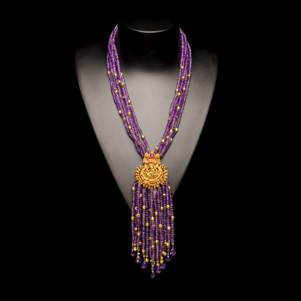 Amethyst Apsara Necklace