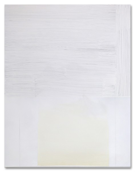 Jeffrey Cortland Jones  Track, 2013  enamel, gesso, latex, and graphite on acrylic panel  14 x 11 in.