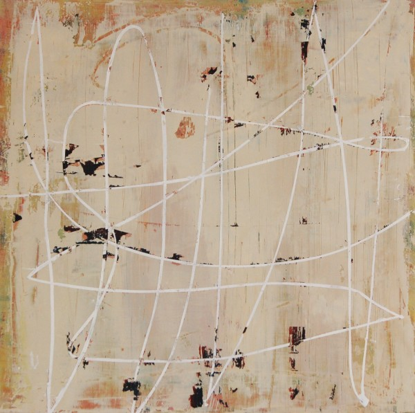 Mary Didoardo, White Loop on Tan, 2013