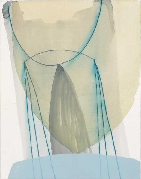 Ky Anderson  2015 Small Series #19, 2015  acrylic and ink on paper  12 x 9 in  sold