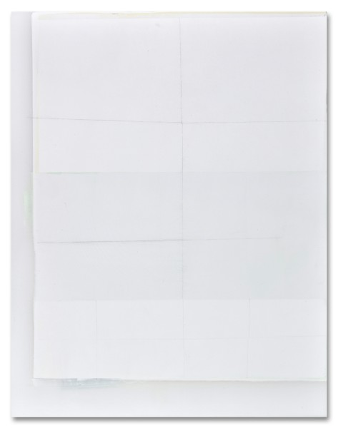 Jeffrey Cortland Jones  Waves (Waves), 2014  enamel, gesso, latex, and graphite on acrylic panel  14 x 11 in.