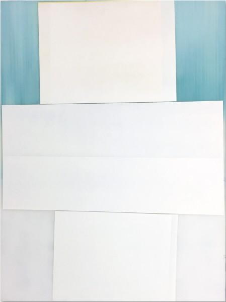 Jeffrey Cortland Jones  Switch (Backside Smith), 2016  enamel on acrylic panel  48 x 36 in.