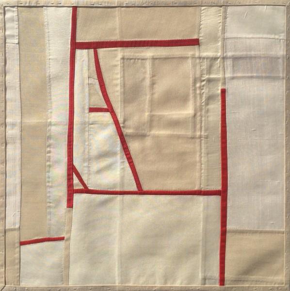 Debra Smith  Shifting Meditation #8, 2015  pieced vintage silk  14.5 x 14.5 in.  $1,500