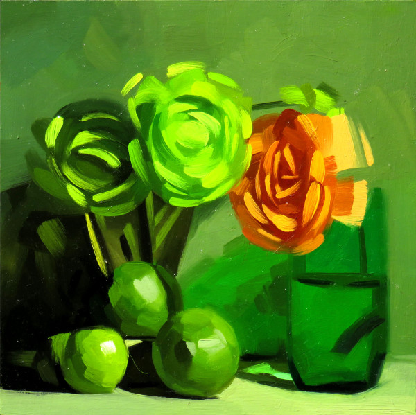 Dik Liu, Green and Orange, 2018