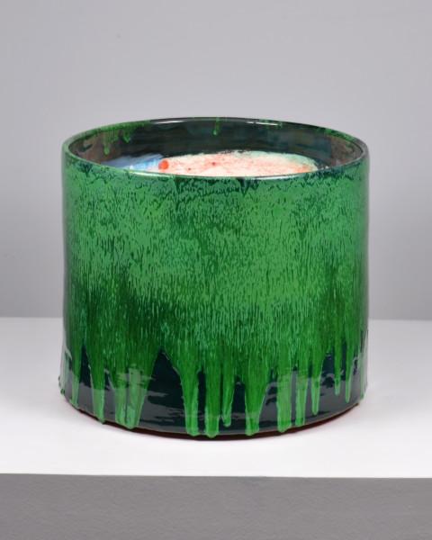 Lauren Mabry, Cylinder (Dark Green Exterior), 2016