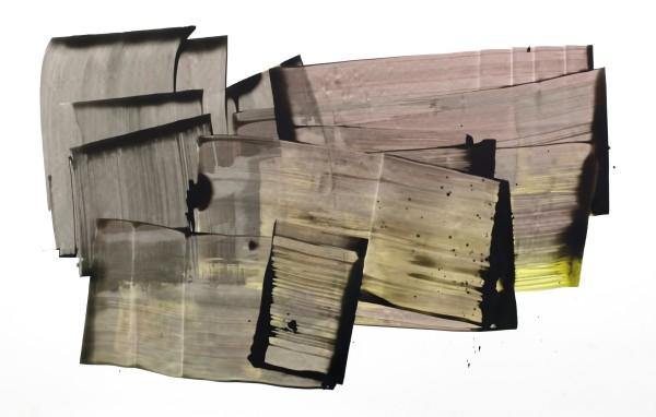 Sarah Irvin  Companion, 2016  ink on yupo  26 x 40 in.