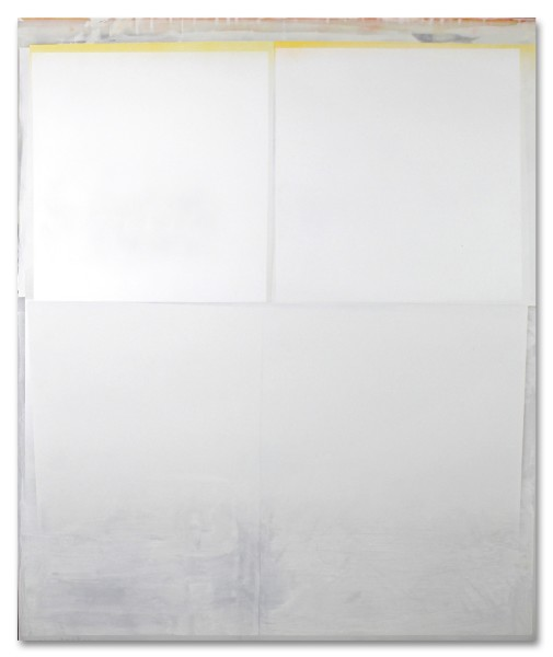Jeffrey Cortland Jones  Erasure (Disclosure), 2014  enamel, gesso, latex, and graphite on acrylic panel  36 x 30 in.