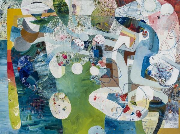 Josette Urso  Hoof It, 2016  oil on canvas  36 x 48 in